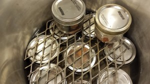 3-stacking jars in the pressure canner