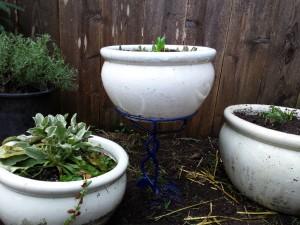Blue pot holder
